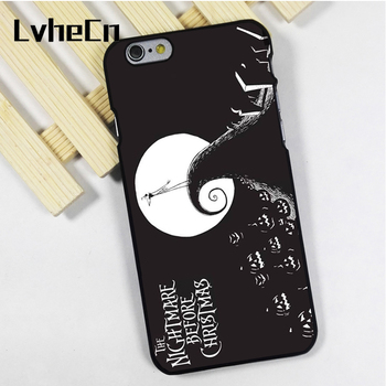 LvheCn telefon kılıfı kapak fit için iPhone 4 4 s 5 5 s 5c SE 6 6 s 7 8 artı X ipod touch 4 5 6 Nightmare Before Christmas serin